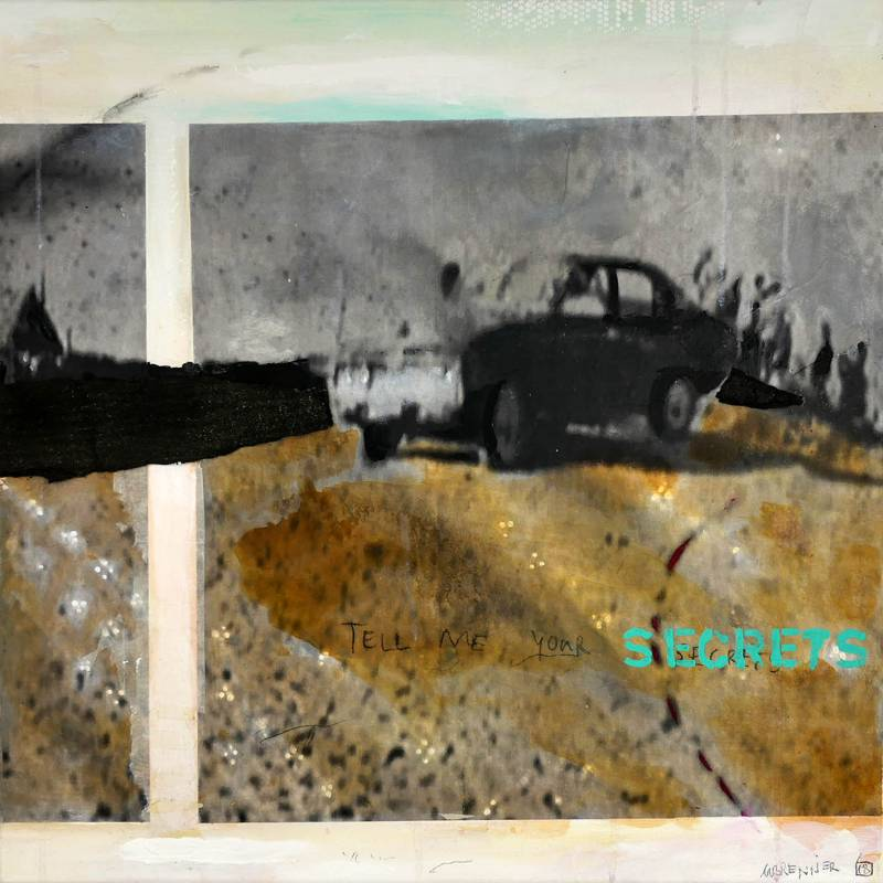 18 SECRETS, mm on canvas, 80x80_s
