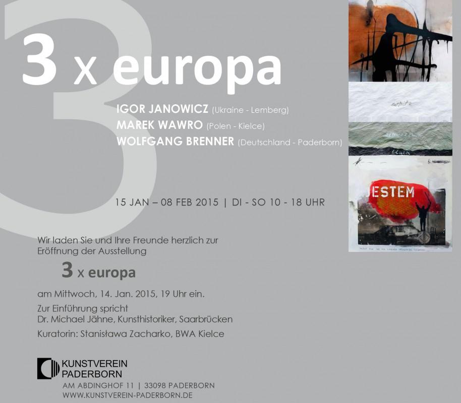 Ausstellung 3 x europa im Kunstverein Paderborn