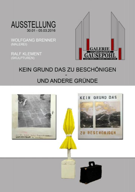 Galerie Gausepohl, Detmold | 30.01. – 05.03.2016