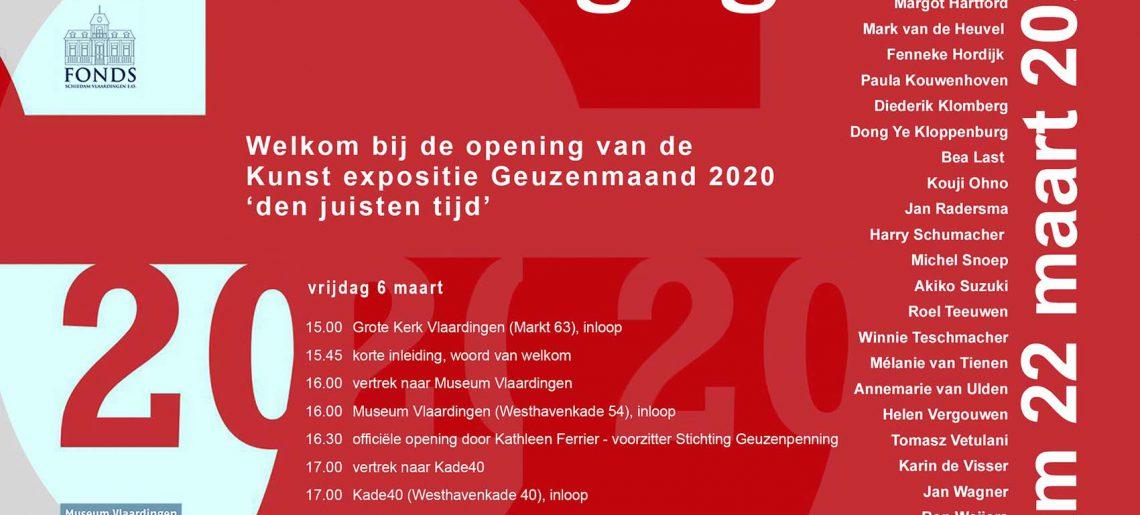 Der richtige Zeitpunkt – eine Ausstellung in Vlaardingen / NL zur Verleihung der internationalen Geuzen-Medaille